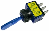 """Pico 5537PT  12 Volt 16 Amp On-Off Toggle Switch 1"""" Blue Illuminated Handle SPST 1 Per Package"""