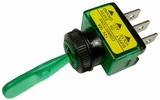 """Pico 5539A  12 Volt 16 Amp On-Off Toggle Switch 1"""" Green Illuminated Handle SPST 25 Per Package"""