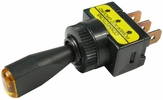 """Pico 5562A  12 Volt 10 Amp On-Off Toggle Switch 1"""" Amber LED Illuminated Tip Handle SPST 25 per Package"""