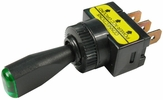 """Pico 5563A  12 Volt 10 Amp On-Off Toggle Switch 1"""" Green LED Illuminated Tip Handle SPST 25 per Package"""