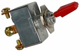 """Pico 5572PT  6-12 Volt 50 Amp Heavy Duty On-Off Toggle Switch 1"""" Red Handle SPST"""