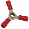 Pico 1720A  22-16 AWG(Red)  Flared Vinyl Insulated Electrical Wiring 3-Way Electrical Wiring Connectors 250 Per Package