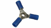 Pico 1820D  16-14 AWG(Blue)  Flared Vinyl Insulated Electrical Wiring 3-Way Electrical Wiring Connectors 3 Per Package