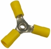 Pico 1920A  12-10 AWG(Yellow)  Flared Vinyl Insulated Electrical Wiring 3-Way Electrical Wiring Connectors 100 Per Package