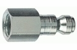 """Tru-Flate 12-135  1/4"""" Tru-Flate Design (""""T"""" Style) Air Line Quick Disconnect Coupler Plug with 1/4"""" NPT Female Thread"""