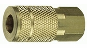 """Tru-Flate 13-135  1/4"""" Tru-Flate Design (""""T"""" Style) Air Line Quick Disconnect Coupler with 1/4"""" NPT Female Thread"""