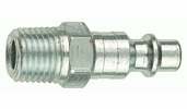 """Tru-Flate 12-225  1/4"""" Industrial / Milton Design (""""I/M"""" Style) Air Line Quick Disconnect Coupler Plug with 1/4"""" NPT Male Thread"""