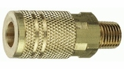 """Tru-Flate 13-225  1/4"""" Industrial / Milton Design (""""I/M"""" Style) Air Line Quick Disconnect Coupler with 1/4"""" NPT Male Thread"""