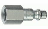 """Tru-Flate 12-235  1/4"""" Industrial / Milton Design (""""I/M"""" Style) Air Line Quick Disconnect Coupler Plug with 1/4"""" NPT Female Thread"""
