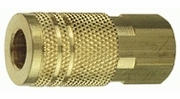 """Tru-Flate 13-235  1/4"""" Industrial / Milton Design (""""I/M"""" Style) Air Line Quick Disconnect Coupler with 1/4"""" NPT Female Thread"""