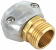 "Gilmour 01MZ  5/8"" to 3/4"" Hose Repair Male Connector / Coupler End - Zinc and Brass"