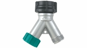 "Gilmour 08Y  Double Water Hose ""Y"" Connector with End Cap"