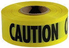 """Empire Level 77-1001  1000' x 3""""  Barricade """"Caution"""" Tape - Yellow Commercial Grade"""