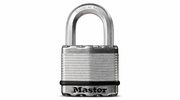 "Master Lock M5XDHC  Magnum 2"" Wide Laminated Padlock with Tough-Cut Octagonal Shackle 1"" Height"