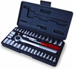 "Titan Tekz 18196  40-Piece SAE & Metric 1/4"" & 3/8"" Drive Socket Set with Case"