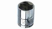 "Performance Tool W38018  9/16"" SAE Size 6 Point 3/8"" Drive Standard Socket"