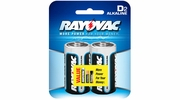 Rayovac 813-2  Alkaline 'D' Cell Batteries 2 per Package