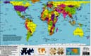 HOBO-DYER EQUAL AREA PLACEMAT WORLD MAP