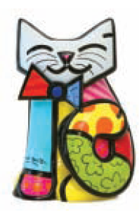 Fun Cat Collectable by Romero Britto