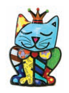 Royalty Cat Collectable by Romero Britto