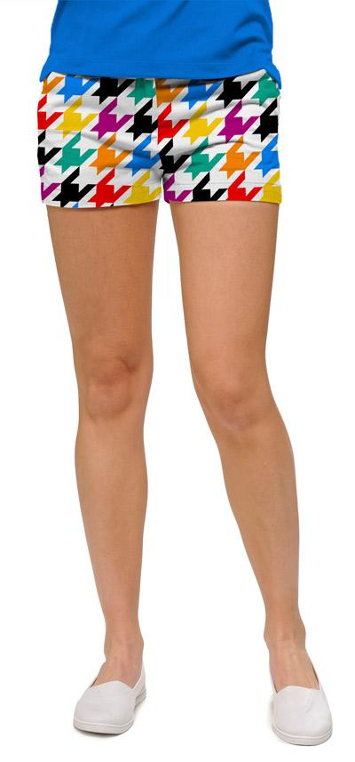 Razzle Dazzle White Women's Mini Shorts by Loud Mouth Golf