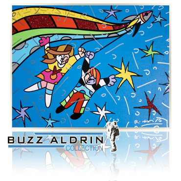 Kids With Rocket- MultiMedia Giclee by Romero Britto