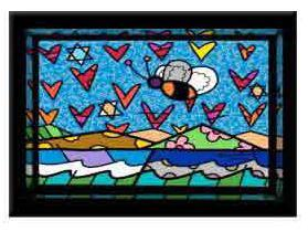 Land of Milk and Honey by Romero Britto