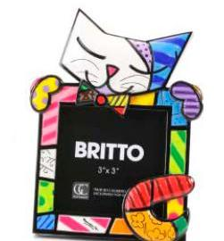 Cat Frame 2 by Britto