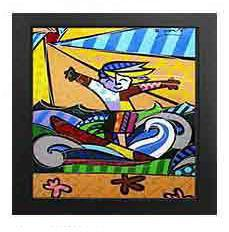 Surfer Boy Giclee by Romero Britto
