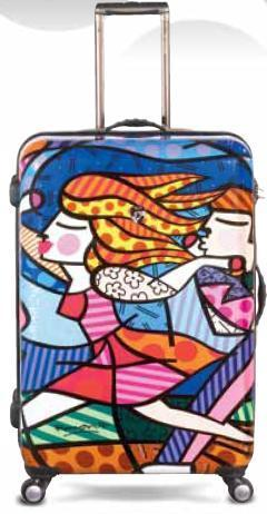 "Love Blossoms 30"" Luggage by Romero Britto + Heys"