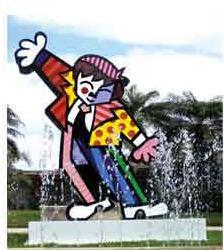 Dancing Boy Sculpture by Romero Britto