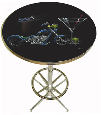 Custom Martini Pub Table by Godard