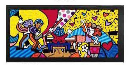 Music Giclee by Romero Britto