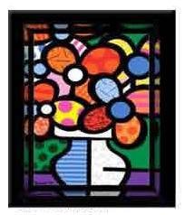 Flowers In a Vase by Romero Britto