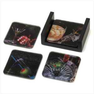 Mixed Glass Coasters by Michael Godard