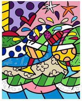Wine Country in Yellow - Embellished Giclee by Romero Britto