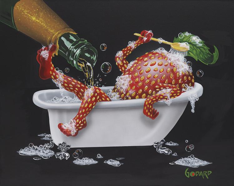 Bubbly Bath 2 Giclee by Godard