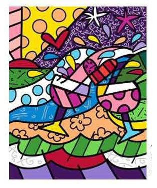 Wine Country Magenta - Embellished Giclee by Britto