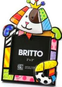 King Dog Photo Frame by Britto