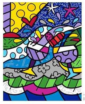Wine Country  in Purple - Embellished Giclee by Britto