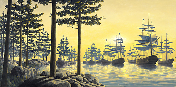 Sailing Islands by Rob Gonsalves