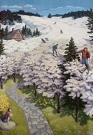Spring Skiing by Rob Gonsalves