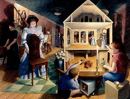 Dolls Dreamhouse by Rob Gonsalves - CALL FOR PRICING