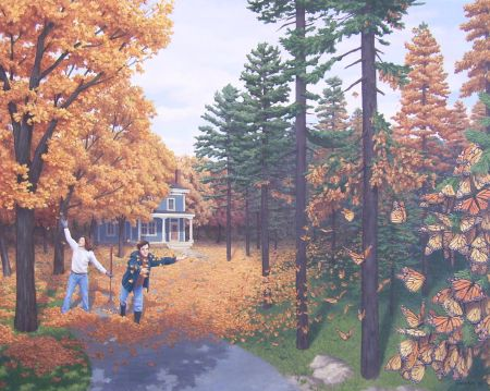 Fall Colour Flies by Rob Gonsalves - CALL FOR PRICING