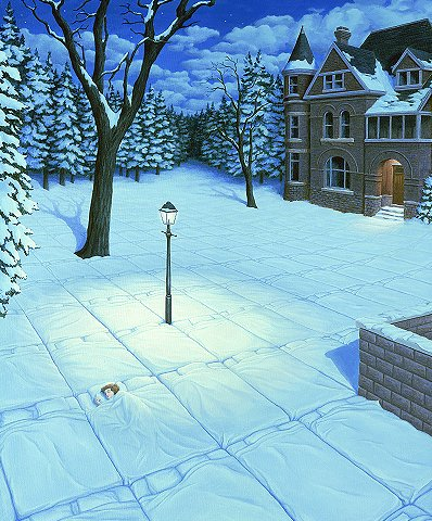 White Blanket by Rob Gonsalves
