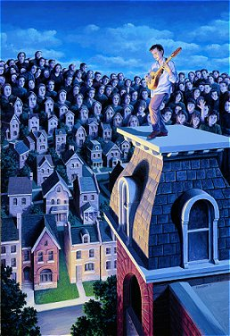 Performer and his Public by Rob Gonsalves