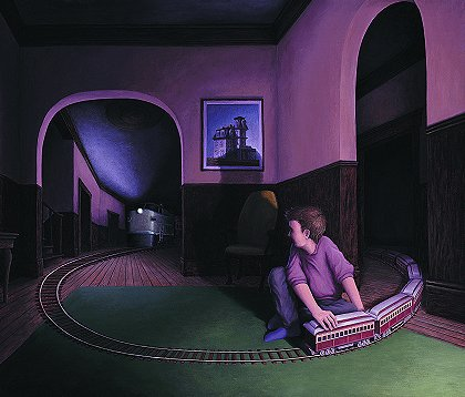 House by the Railroad by Rob Gonsalves