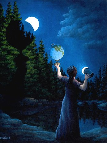 New Moon Eclipsed by Rob Gonsalves