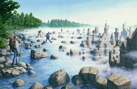 Stepping Stones by Rob Gonsalves