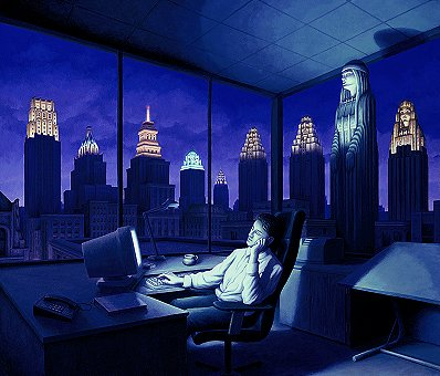 Light of the Late Night by Rob Gonsalves